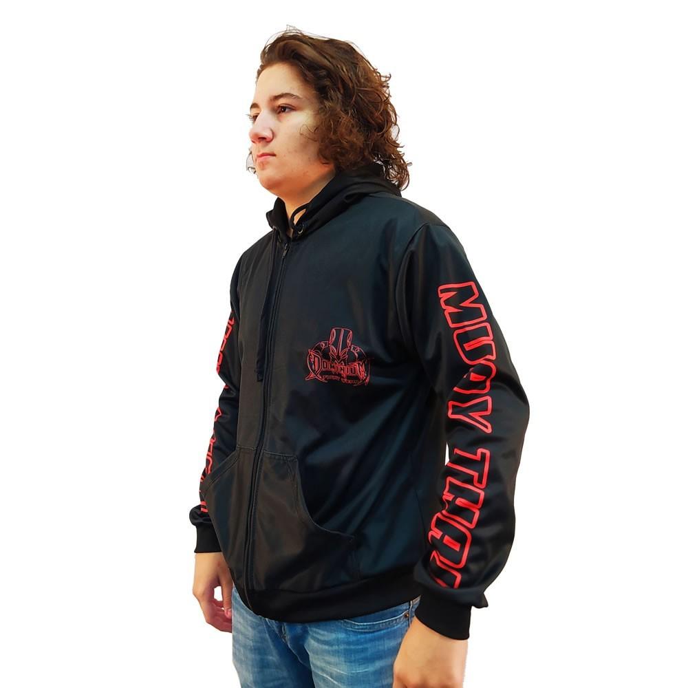 Agasalho Casaco Moleton - Muay Thai - 5001 - Preto - Dominium  - Loja do Competidor