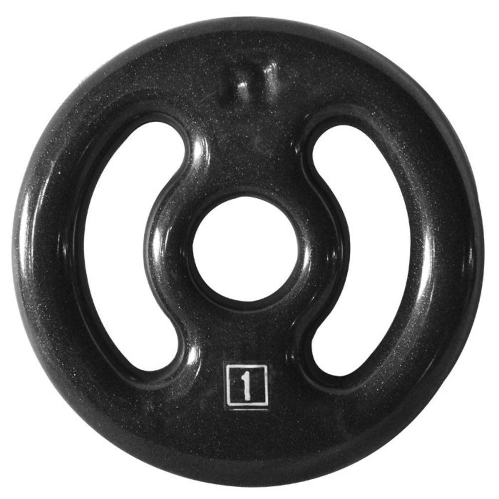 Anilha para Barra Musculação Funcional 1 Kg - Emborrachada - Unid