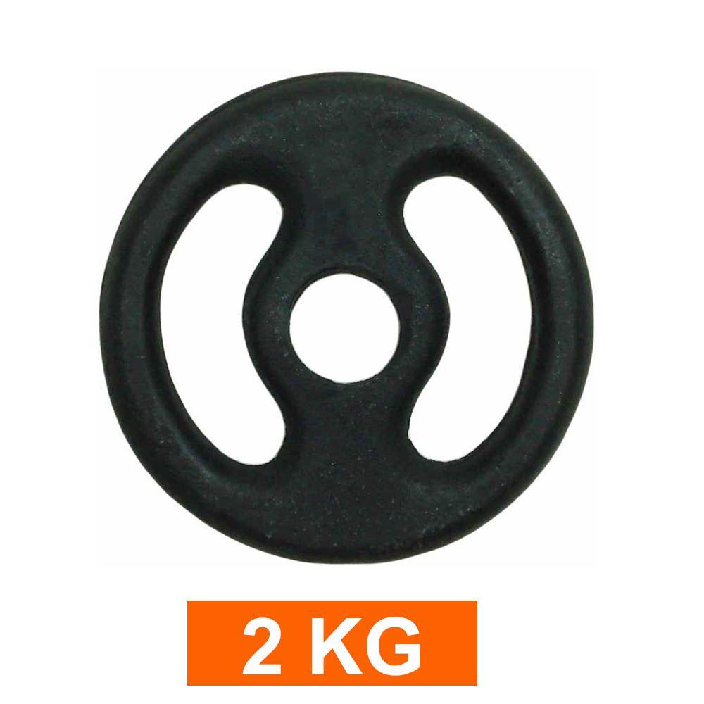 Anilha para Barra Musculação Treino Funcional - 2 Kg - Pintada - Unidade - Pentagol