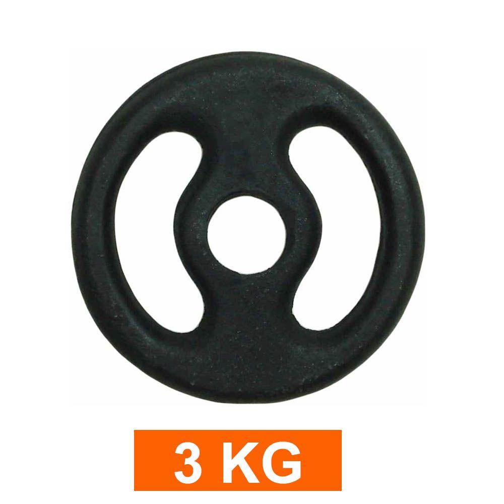 Anilha para Barra Musculação Treino Funcional - 3 Kg - Pintada - Unidade - Pentagol