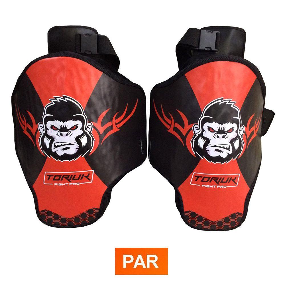 Aparador Protetor de Perna - Coxal Muay Thai - Kong - Profissional - Par - Toriuk