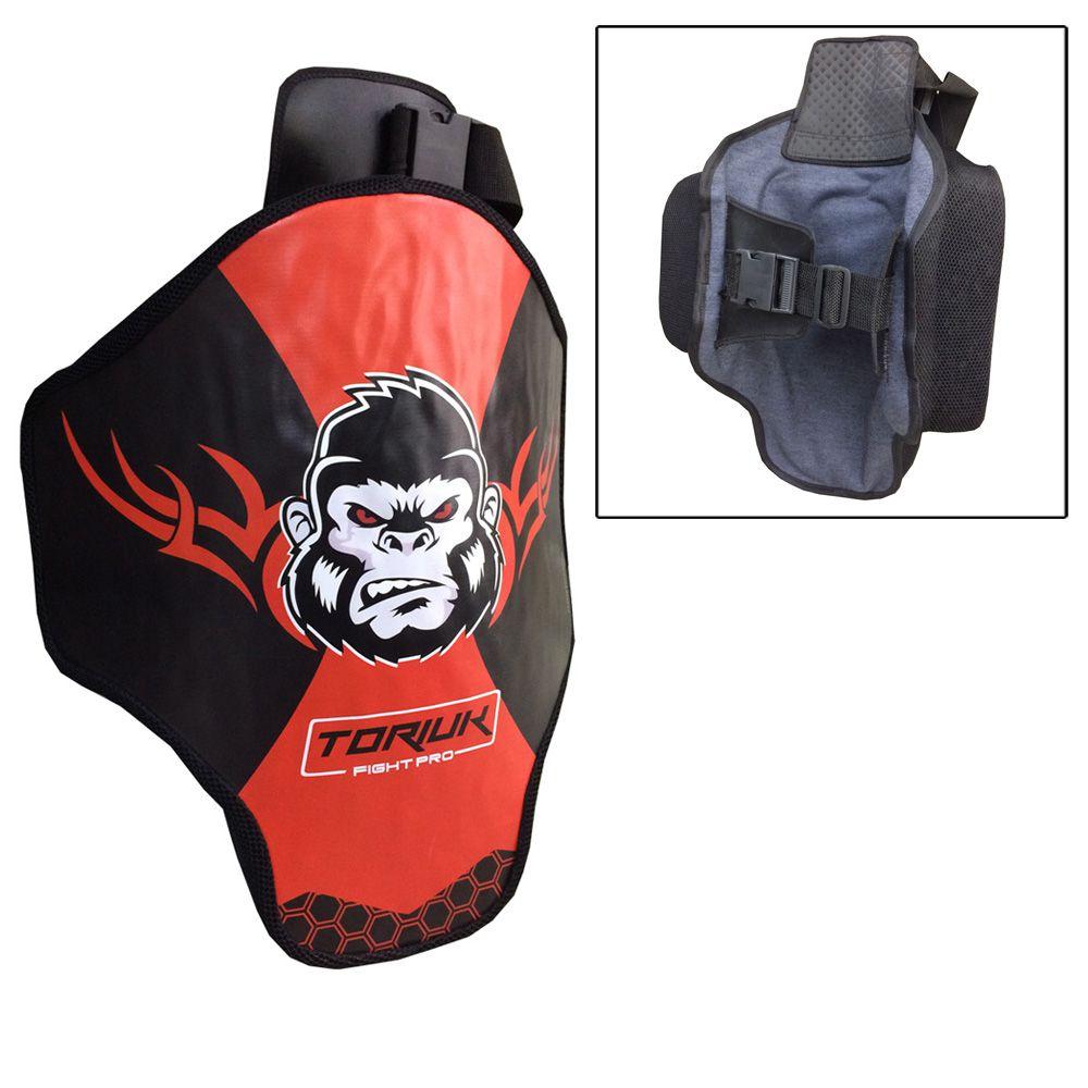 Aparador Protetor de Perna - Coxal Muay Thai - Kong - Profissional - Unidade - Vermelho- Toriuk
