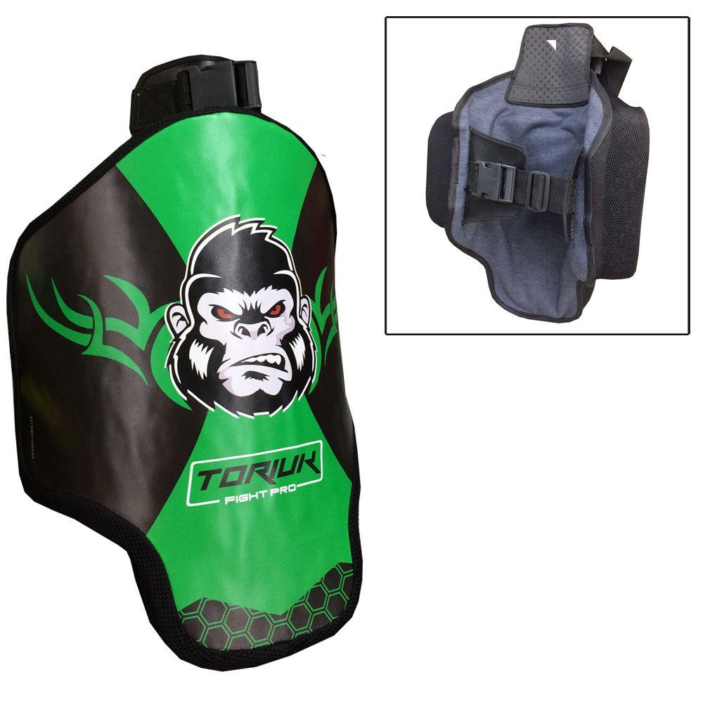 Aparador Protetor de Perna - Coxal Muay Thai - Kong - Profissional - Unidade - Verde-  Toriuk