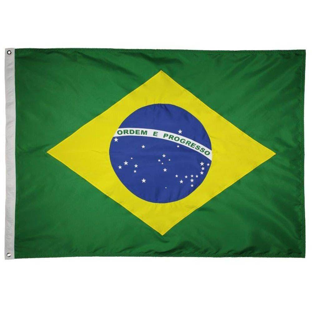 Bandeira do Brasil - 2 Panos - 128 x 90 cm - Oficial