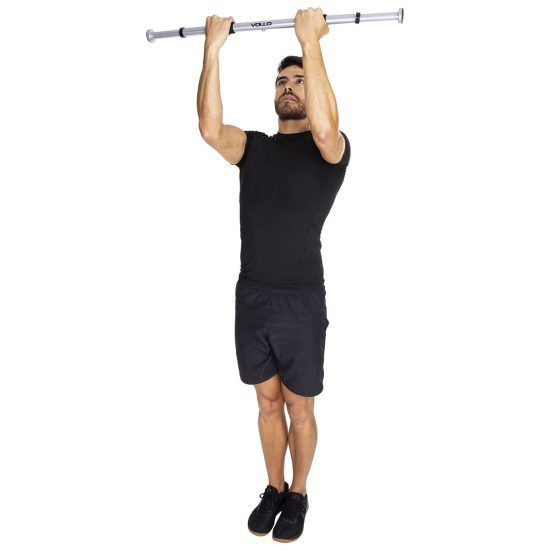 Barra de Porta para Exercicios - Revestida - VP1039 - Vollo  - Loja do Competidor