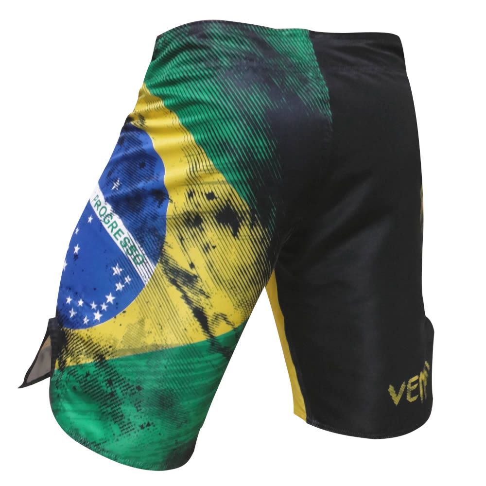 Bermuda de Treino Fight - Bandeira Brazilian Flag - Venum   - Loja do Competidor