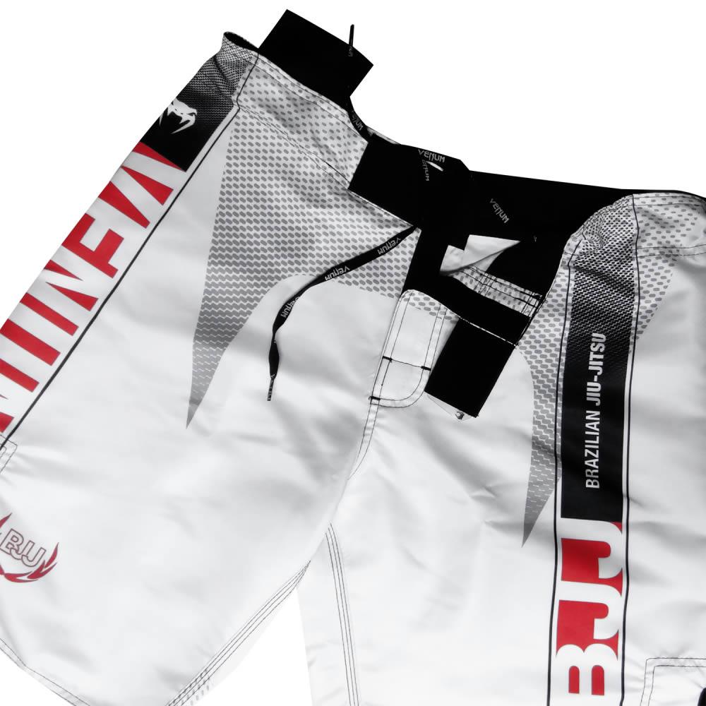 Bermuda de Treino Fight - Jiu Jitsu Vertical - Branca - Venum   - Loja do Competidor
