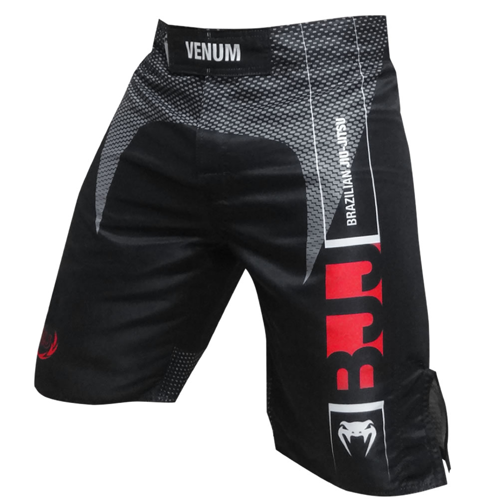 Bermuda de Treino Fight - Jiu Jitsu Vertical - Preta - Venum