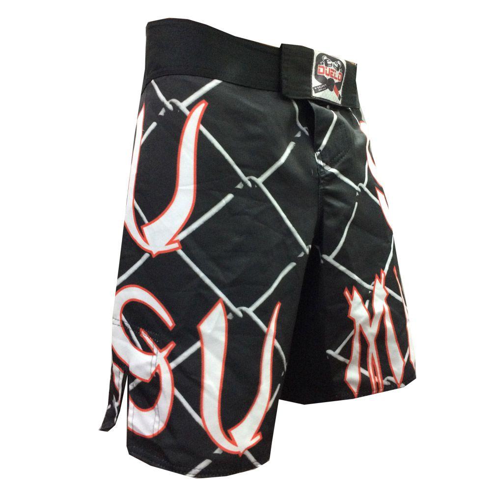 Bermuda Jiu Jitsu / MMA - Grid-  Preto/Vermelho/Branco - Duelo Fight