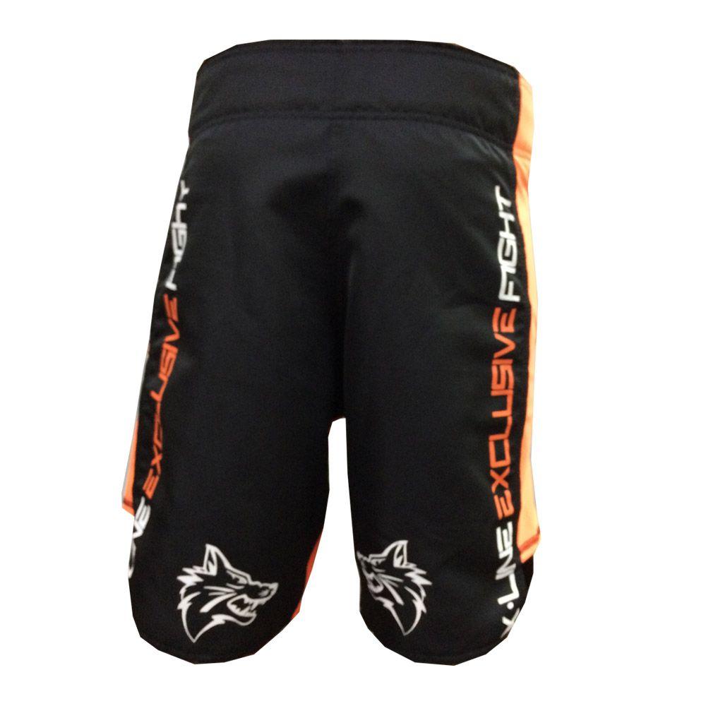 Bermuda Jiu Jitsu/MMA - X-Line- Exclusive - Preto/Laranja - Uppercut -  - Loja do Competidor