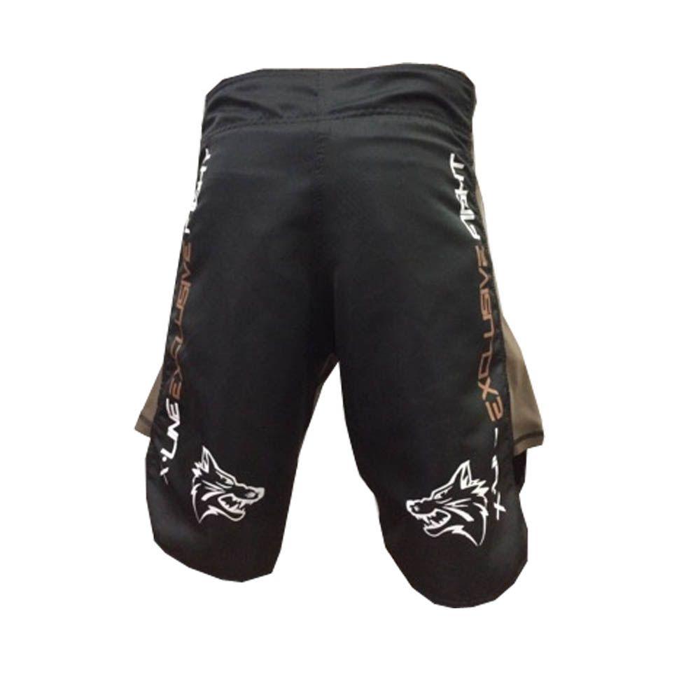 Bermuda Jiu Jitsu/MMA - X-Line- Exclusive - Preto/Marrom -Uppercut   - Loja do Competidor