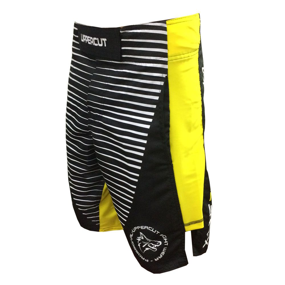 Bermuda Jiu Jitsu/MMA  X-Line II - V2- Preto/Amarelo - Uppercut -  - Loja do Competidor