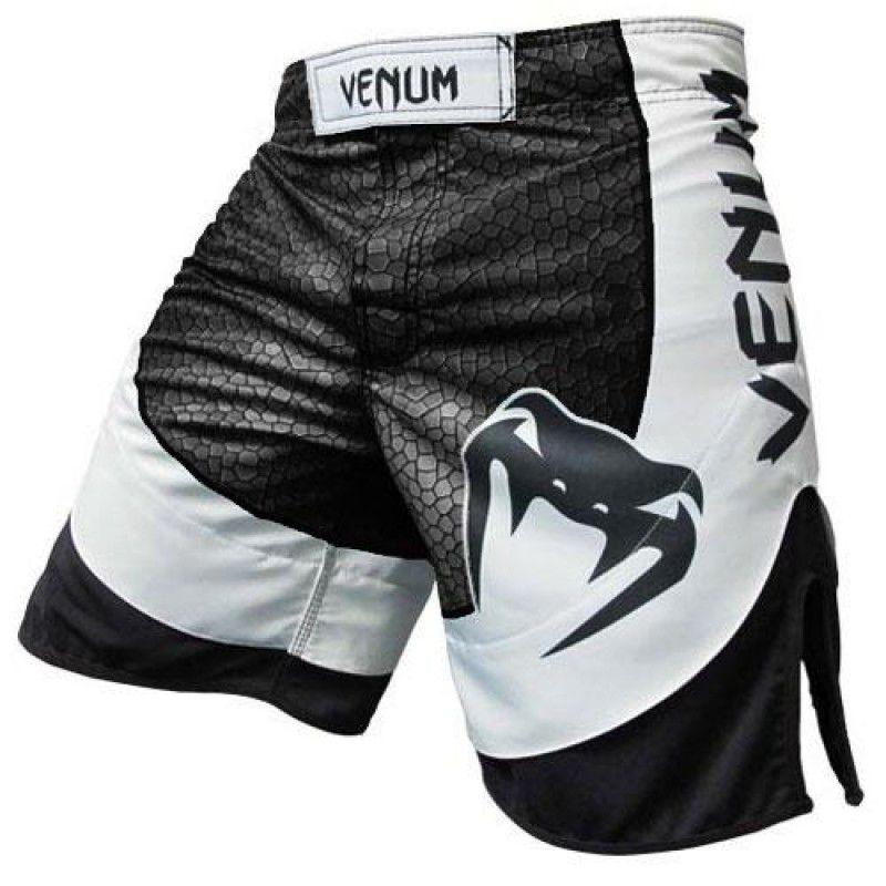 Bermuda MMA -Amazônia 3.0 Vintage - Preto/Branco- Venum  - Loja do Competidor