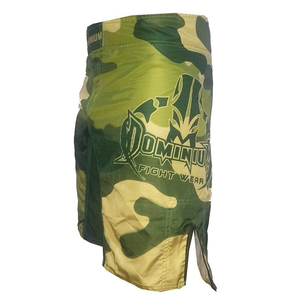 Bermuda MMA - Army - Camuflado - Preto/Verde-  Dominium