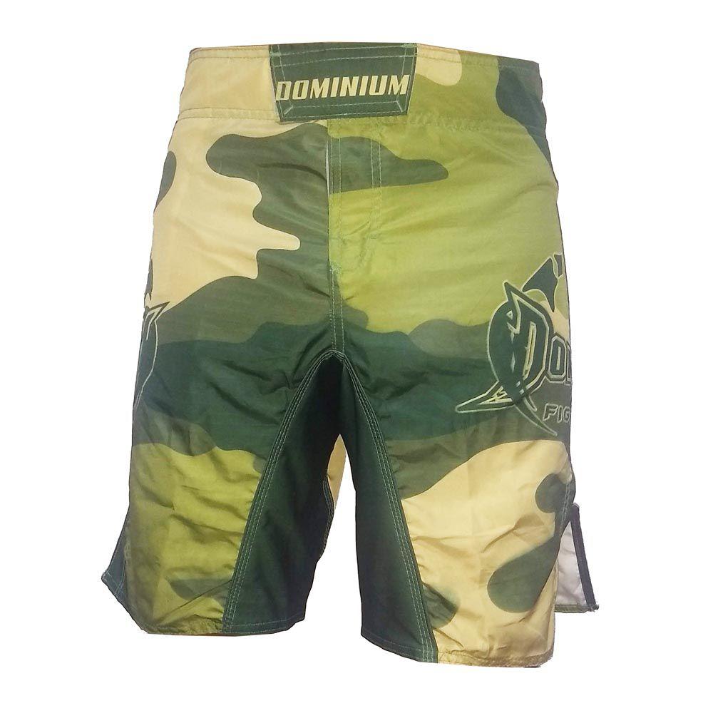 Bermuda MMA - Army - Camuflado - Preto/Verde-  Dominium  - Loja do Competidor