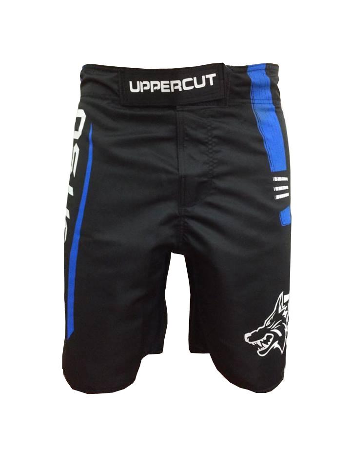 Bermuda Jiu Jitsu - Blue Belt -  Preto/Azul- Uppercut .  - Loja do Competidor