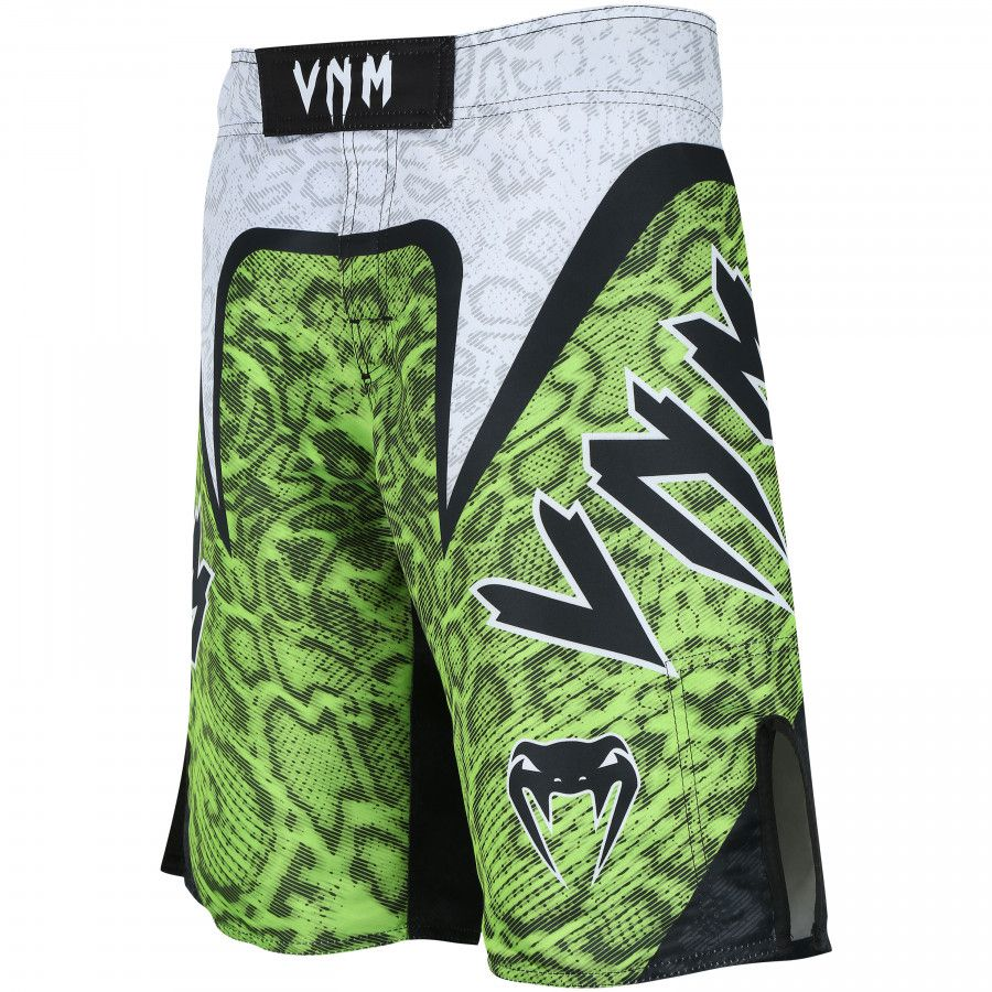 Bermuda MMA com Bolso Interno -Snake EVO - Branco/Verde- Venum