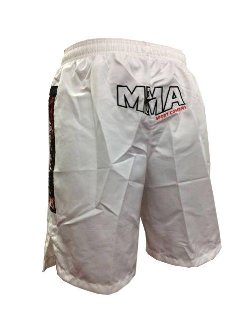 Bermuda MMA - Combat - Bordado - Branco