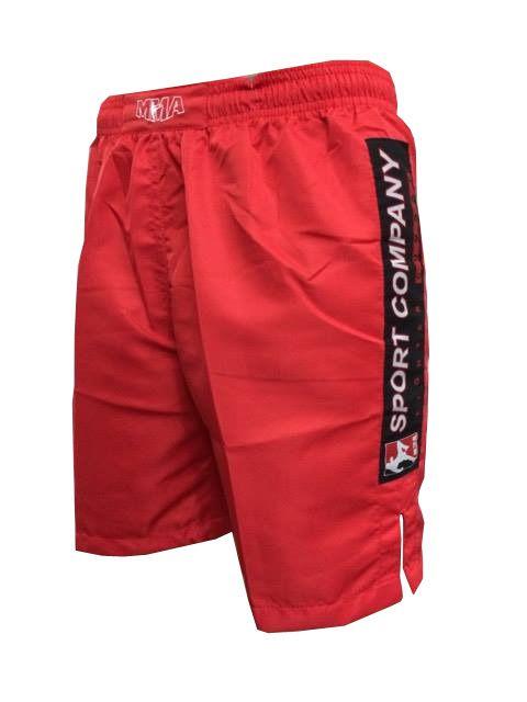 Bermuda MMA - Combat - Bordado - Vermelho