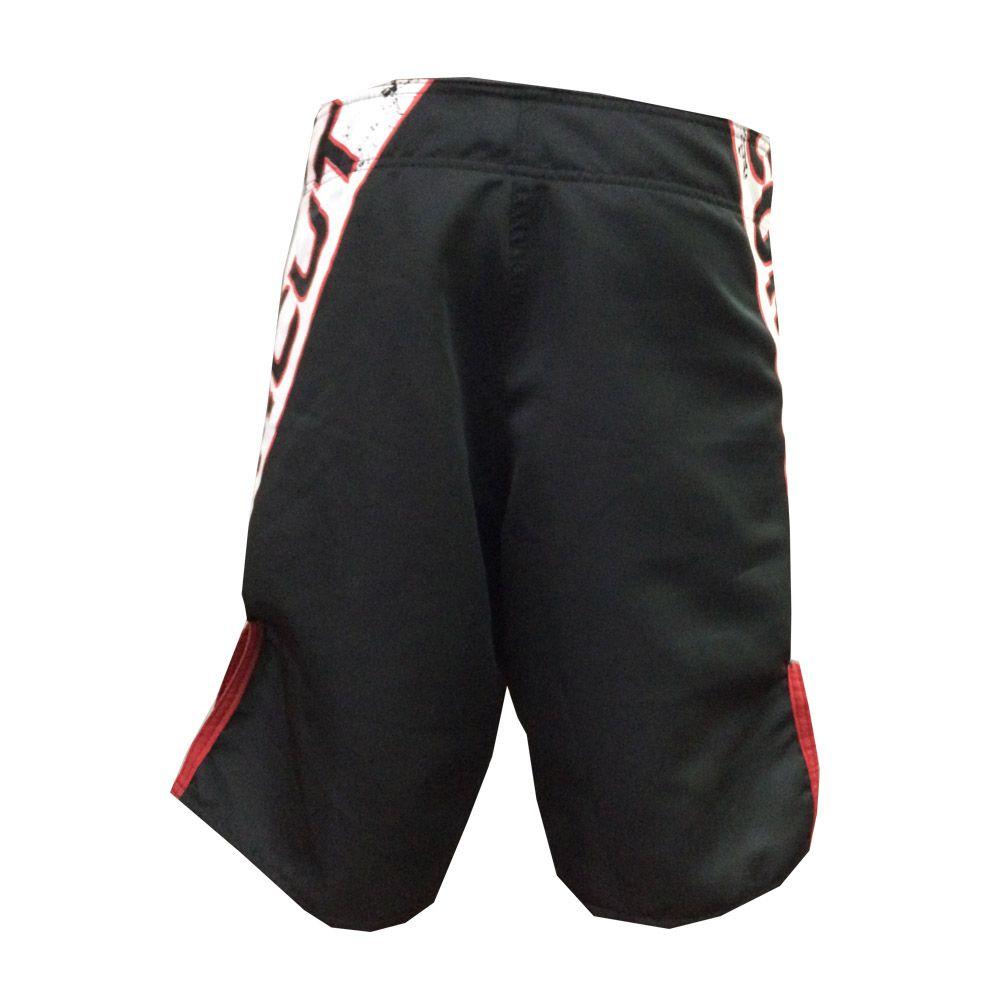 Bermuda MMA - Competidor V2- Preto/Branco/Verm - Uppercut -  - Loja do Competidor