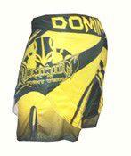 Bermuda MMA - Dry 2789A-  Preto/Amarelo-  Dominium