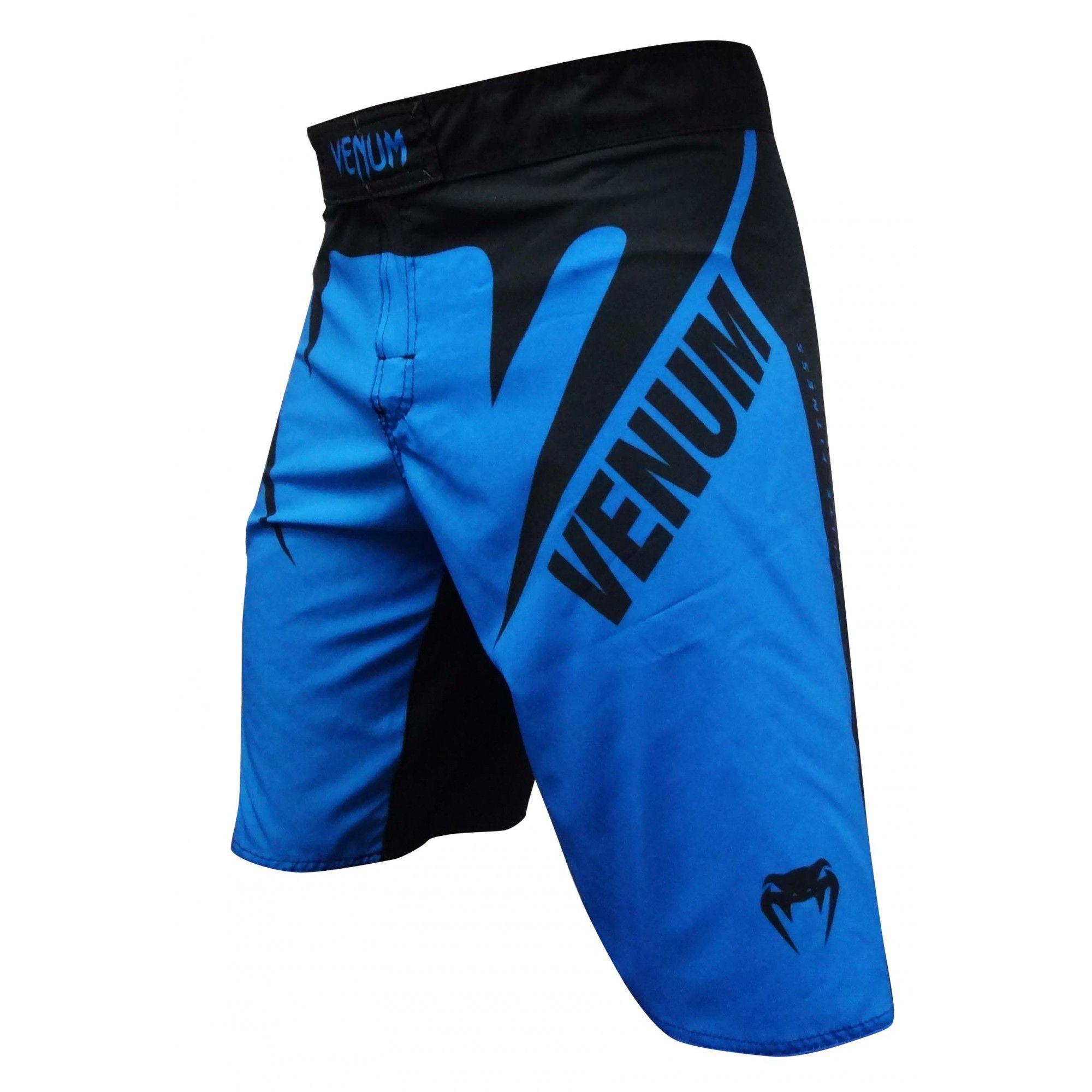 Bermuda MMA - Face- Preto/Azul- Venum .