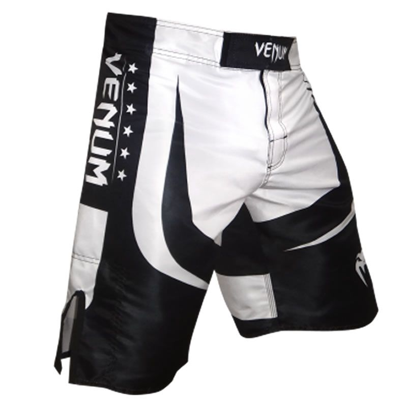 Bermuda MMA Fight Octagon Black - Venum - Preto/Branco