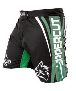 Bermuda MMA - Fight Titanium -  Preto/Verde - Uppercut .  - Loja do Competidor