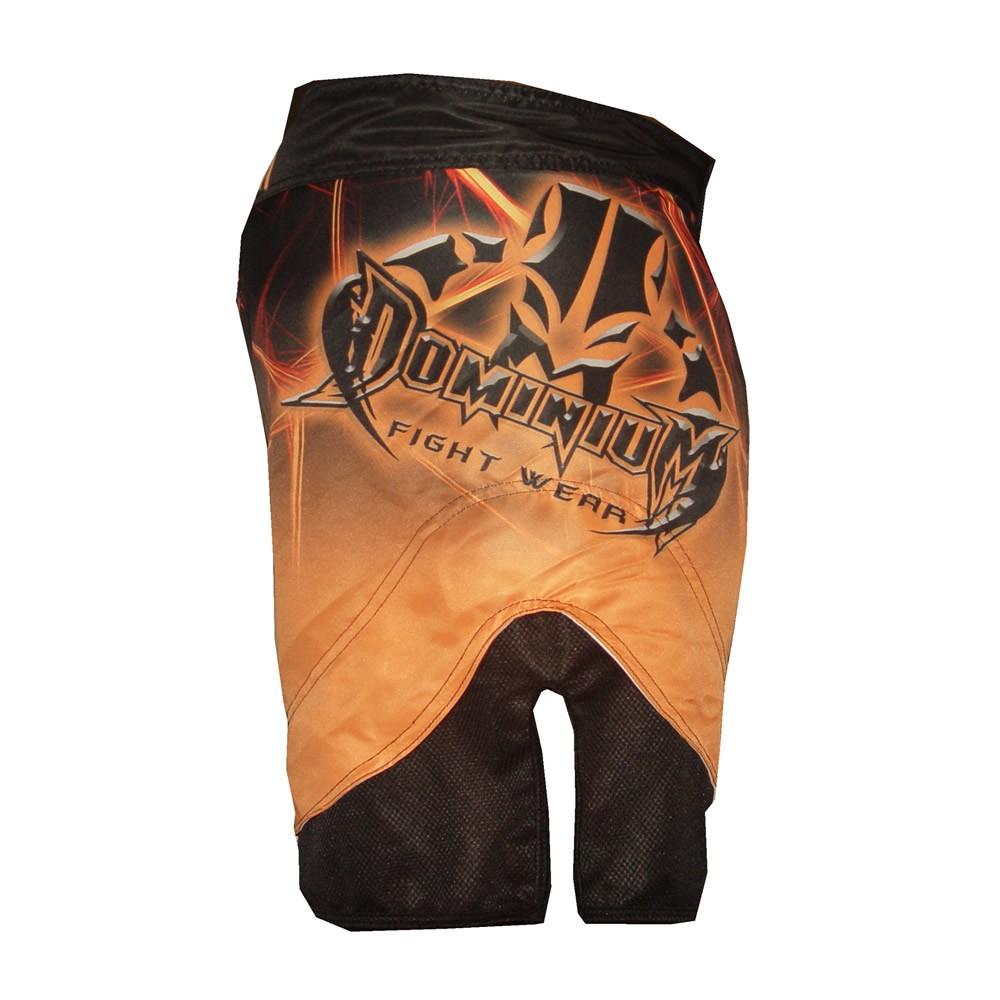 Bermuda MMA Fightshort 2778LA - Preto/Laranja -  Dominium -  - Loja do Competidor
