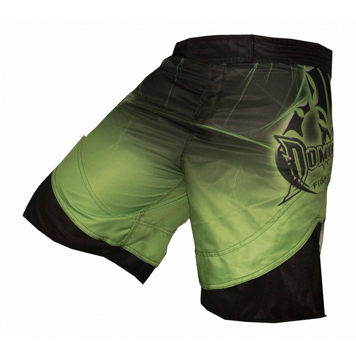 Bermuda MMA - Fightshort 2778VE - Preto/Verde -  Dominium .