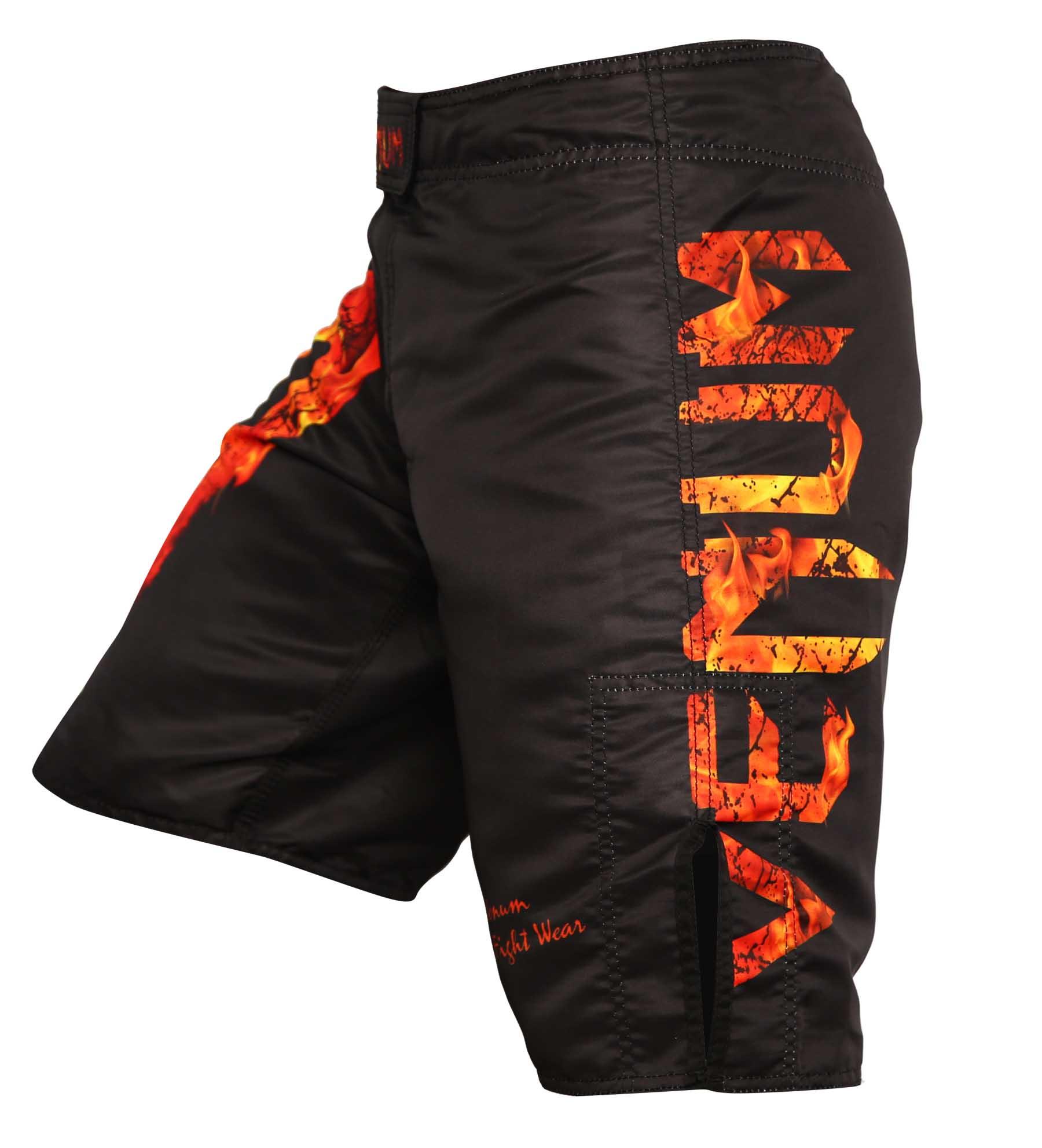 Bermuda MMA Giant Fire 2019 - Preto/Vermelho - Venum Fight  - Loja do Competidor