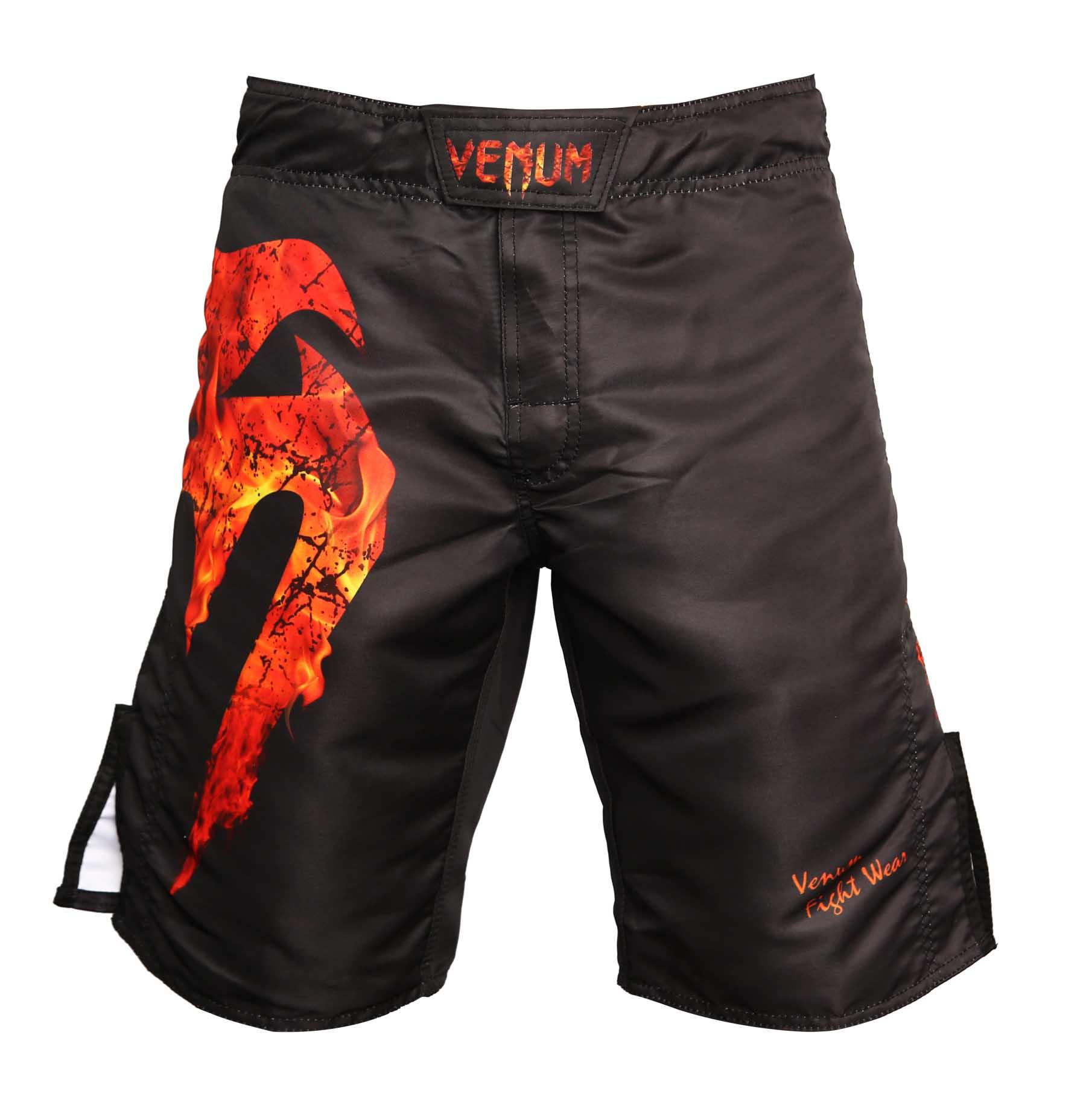 Bermuda MMA - Giant Fire - Preto/Vermelho- Venum  - Loja do Competidor