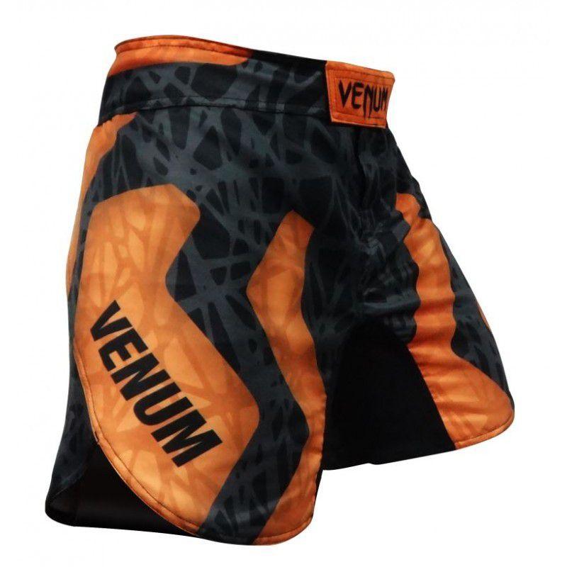 Bermuda MMA - Infinity- Preto/Laranja- Venum  - Loja do Competidor