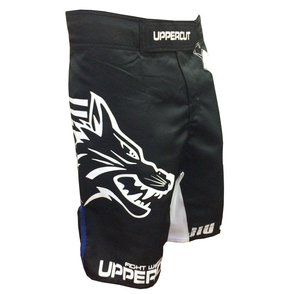 Bermuda MMA - Jiu Jitsu Goshi V2 - Preto/Azul - Uppercut -  - Loja do Competidor
