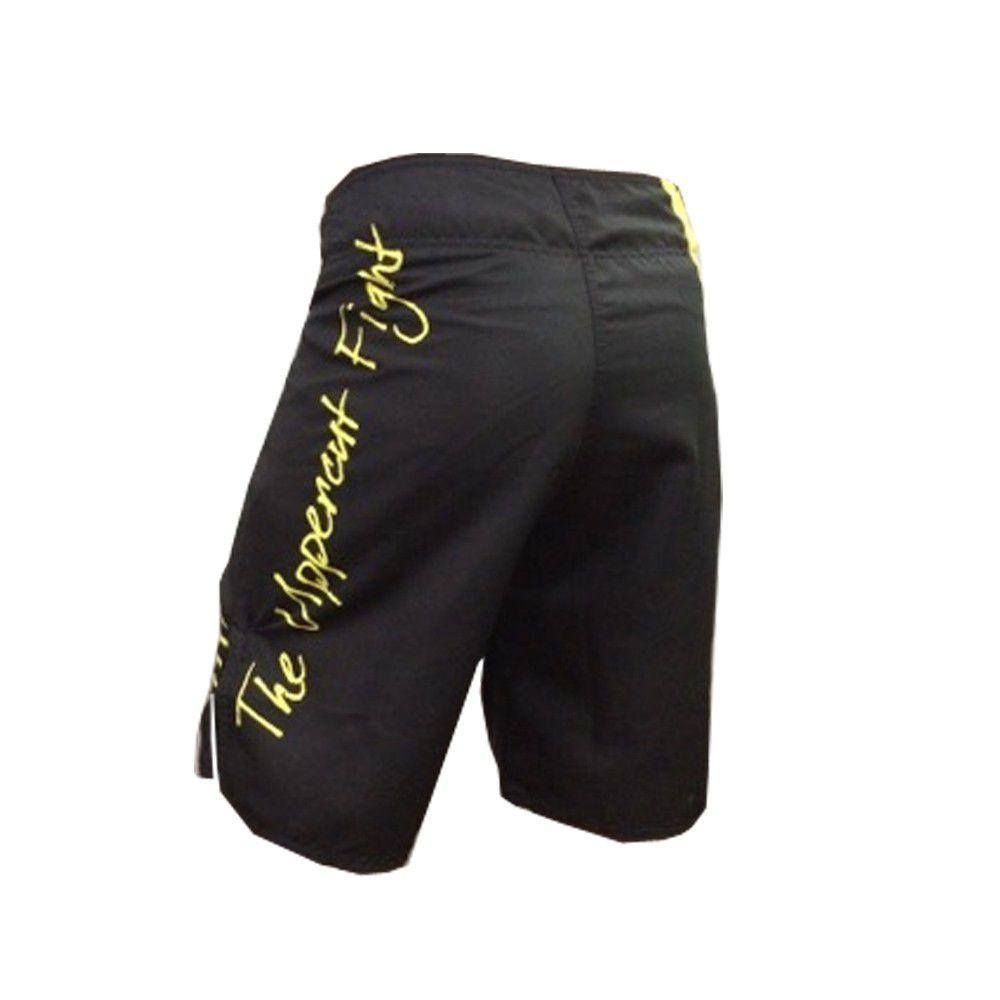 Bermuda MMA - KO Jiu Jitsu - Preto/Amarelo- Uppercut  - Loja do Competidor