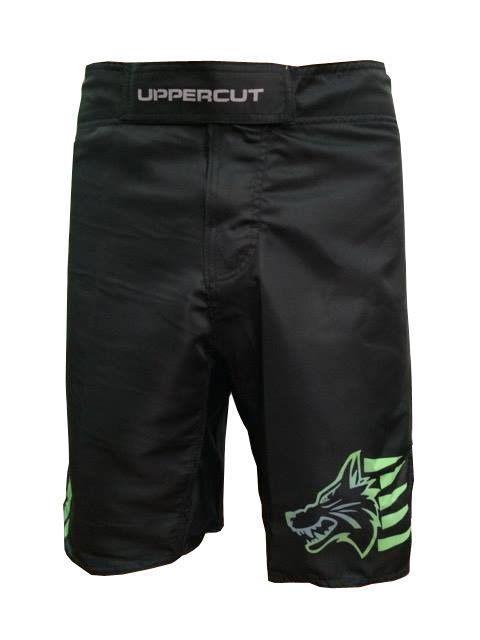 Bermuda MMA - KO Jiu Jitsu - Preto/Verde- Uppercut .  - Loja do Competidor