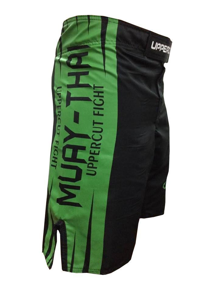 Bermuda MMA - KO Muay Thai -  Preto/Verde- Uppercut -