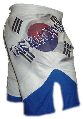 Bermuda MMA - Korean Taekwondo -  Dry 1759-  Branco/Azul -  Dominium
