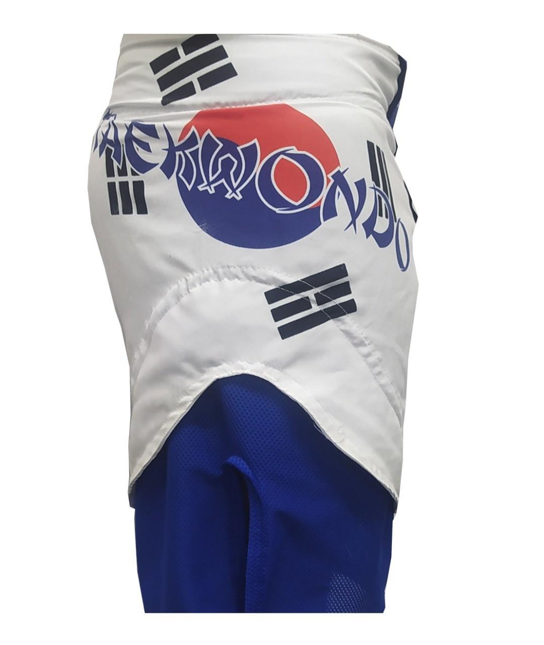 Bermuda MMA - Korean Taekwondo -  Dry 1759-  Branco/Azul -  Dominium -