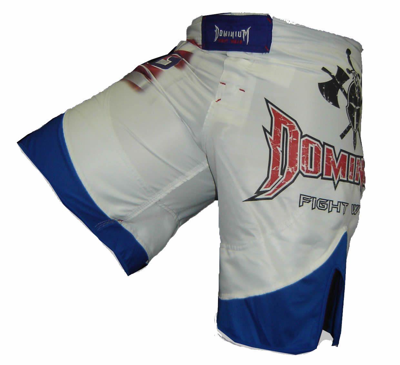 Bermuda MMA - Korean Taekwondo -  Dry 1759-  Branco/Azul -  Dominium -  - Loja do Competidor