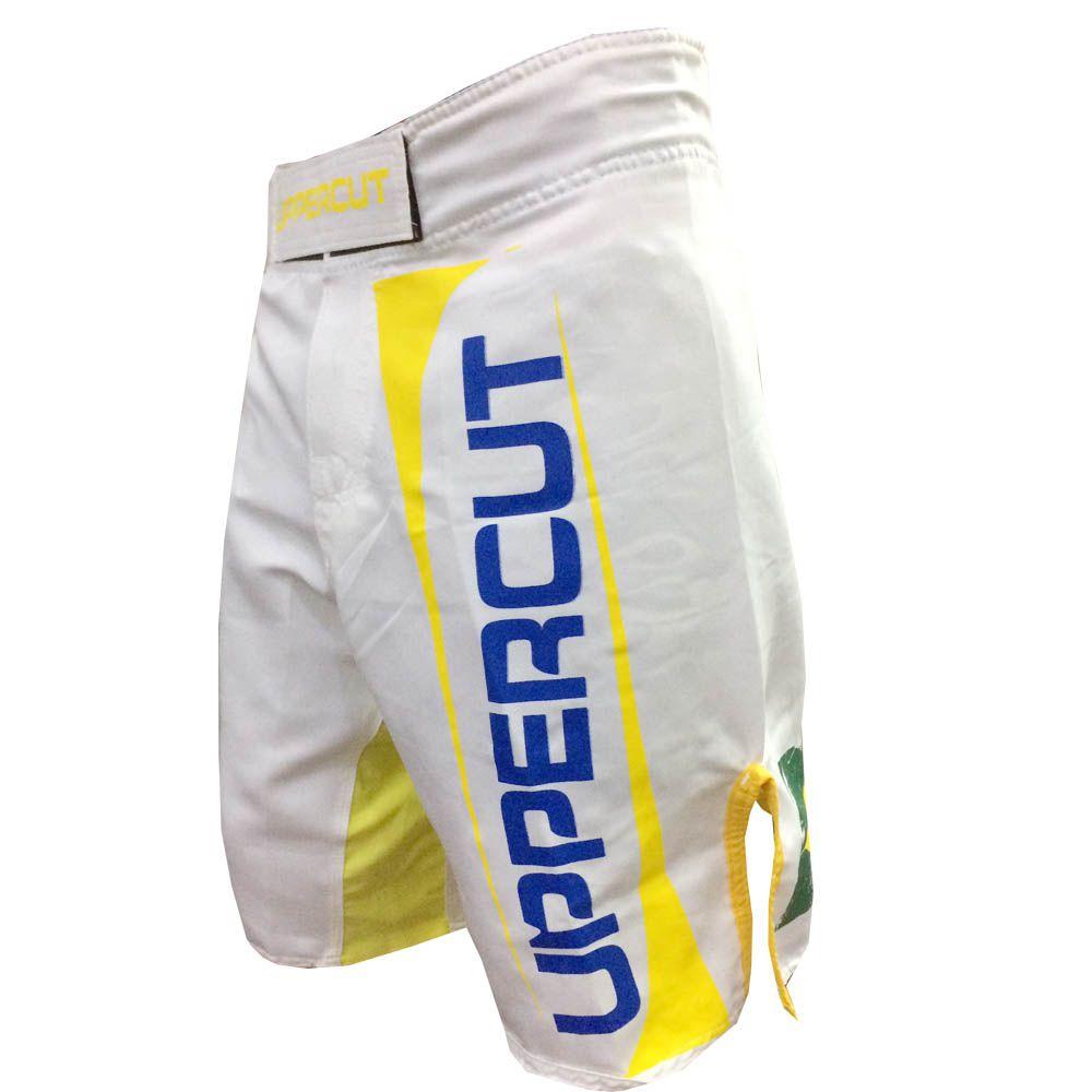 Bermuda MMA - Profissional - Patriota - Branca -  Uppercut -  - Loja do Competidor