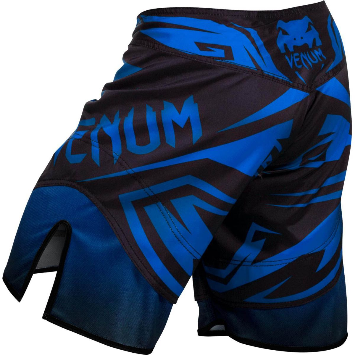 Bermuda MMA - Shadow Hunter- Preto/Azul- Venum  - Loja do Competidor