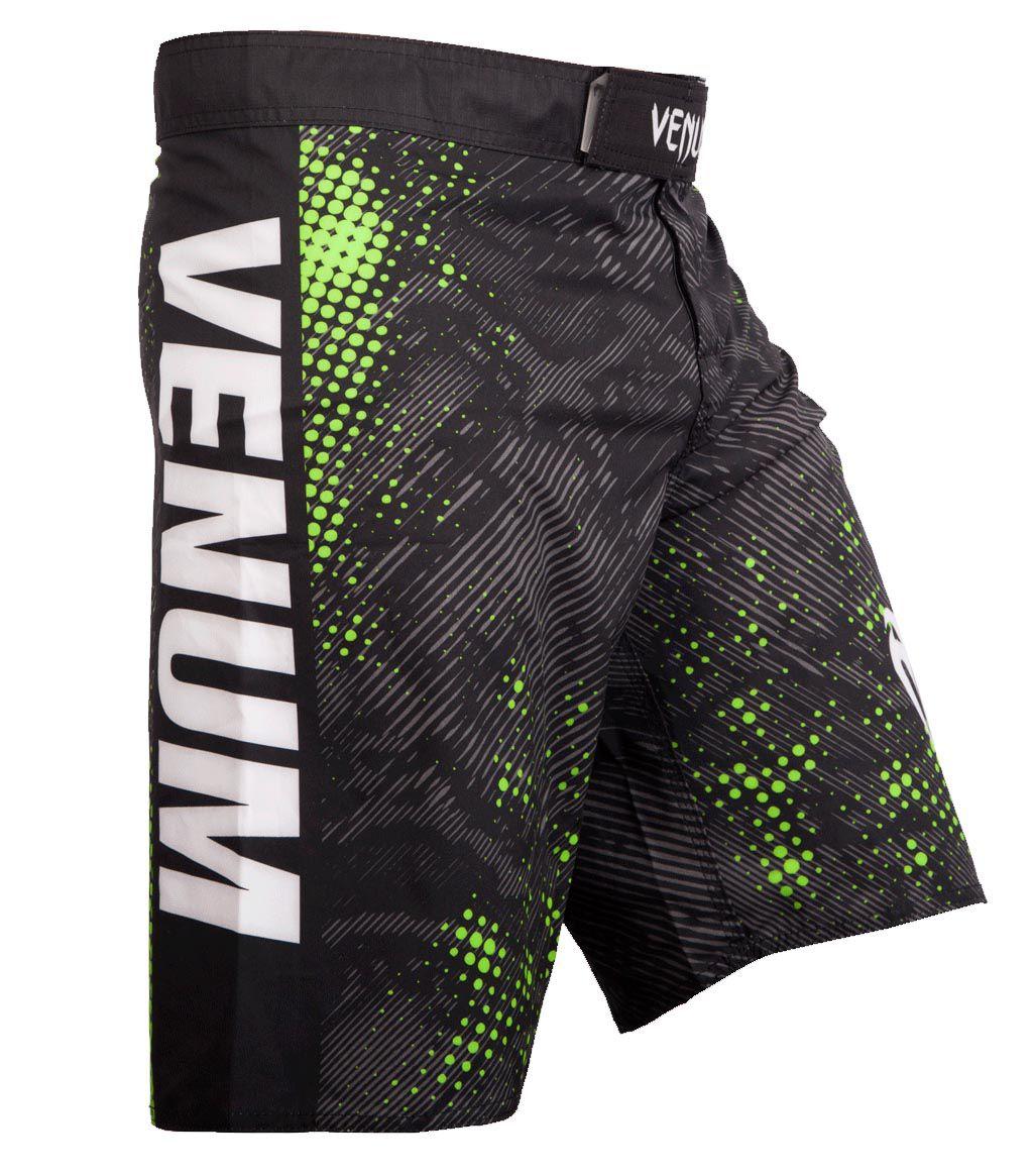 Bermuda MMA - Skin- Preto/Verde- Venum .