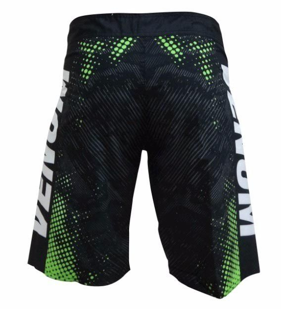 Bermuda MMA - Skin- Preto/Verde- Venum -  - Loja do Competidor