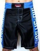 Bermuda MMA / Submission - Jiu Jitsu No Gi - Preto/Azul - Predator  - Loja do Competidor