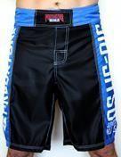 Bermuda MMA / Submission - Jiu Jitsu No Gi - Preto/Azul - Predator .  - Loja do Competidor