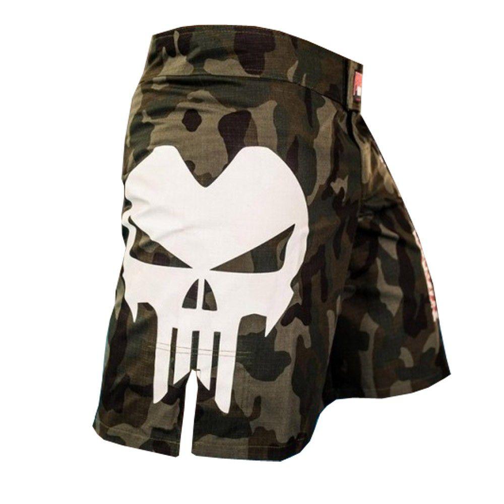 Bermuda MMA / Submission Large Skull - Camuflada- Predator .  - Loja do Competidor