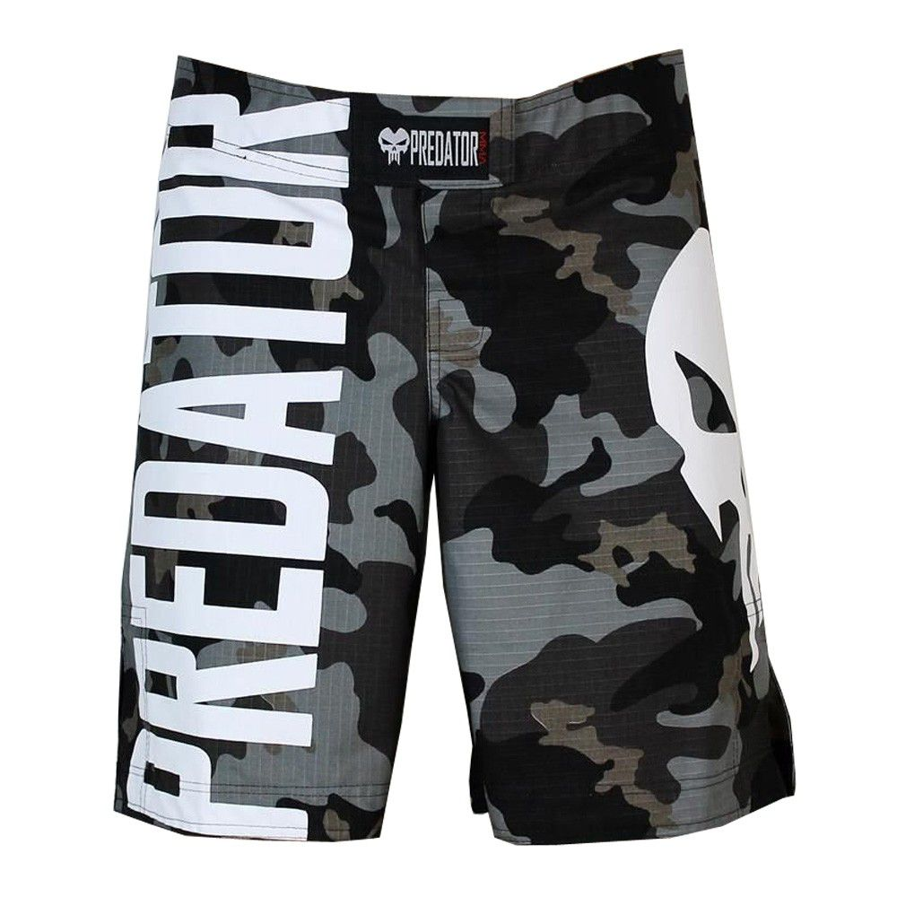 Bermuda MMA / Submission Large Skull - V2 - Camuflado - Predator .  - Loja do Competidor