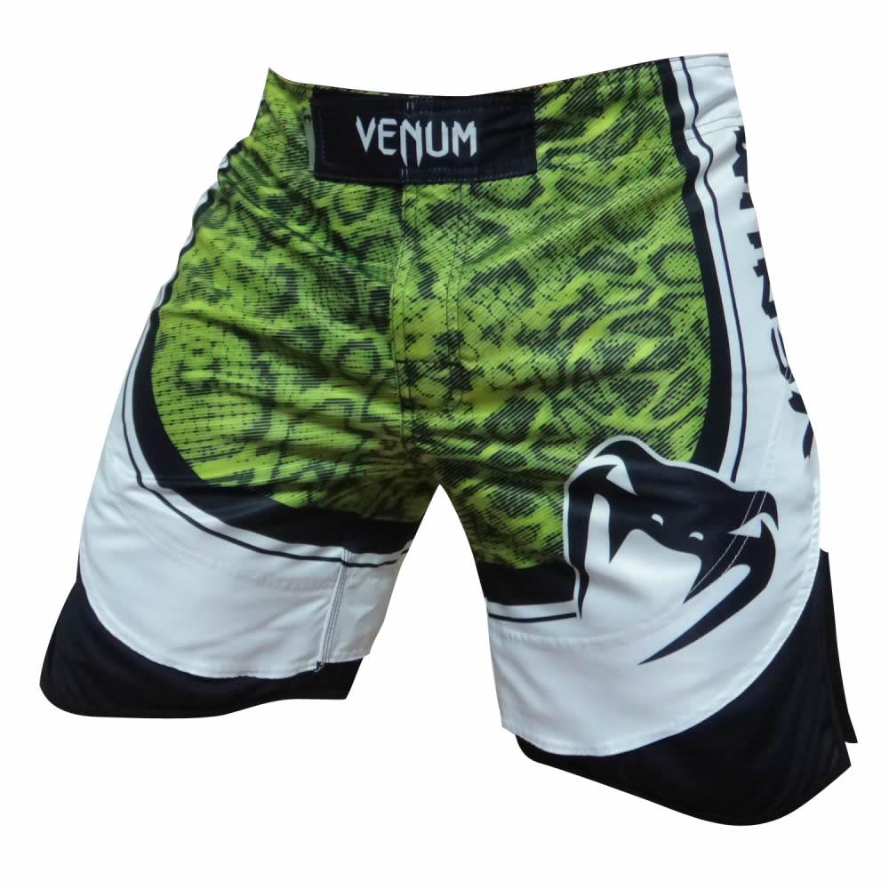 Bermuda MMA Viper - Branco/Verde - Venum