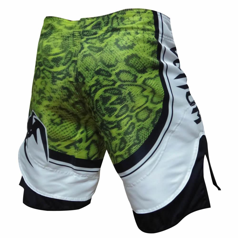 Bermuda MMA Viper - Branco/Verde - Venum  - Loja do Competidor